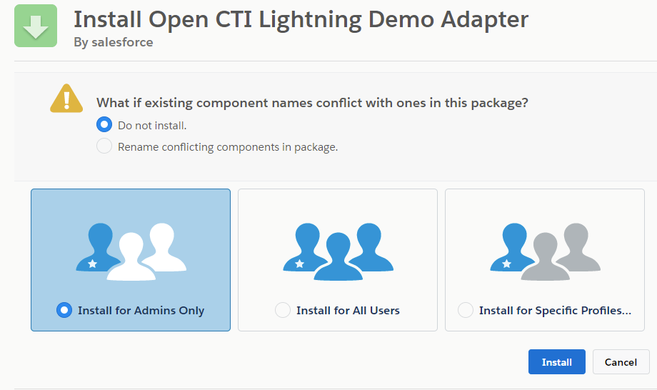 Download and install the Demo Adaptor package